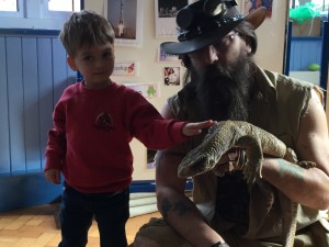 James meets Graham and his monitor lizard